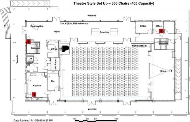 Pavilion Kiama Norfolk Room Theatre Floorplan