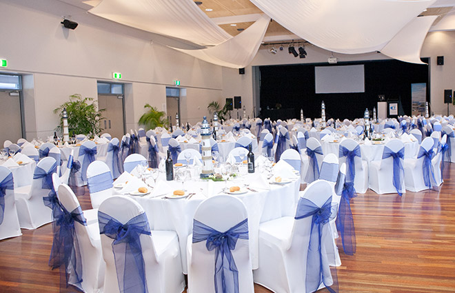 The Pavilion Kiama Sit Down Dinner Set Up